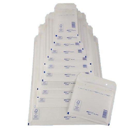 100 x Buste imbottite Bianco - tg. H / 8 [ 290 x 370 mm ] Bolla Borse Buste Mailers
