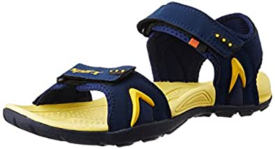 Sparx Men's Navy Blue and Yellow Athletic & Outdoor Sandals - 8 UK/India (42 EU)(SS-450)