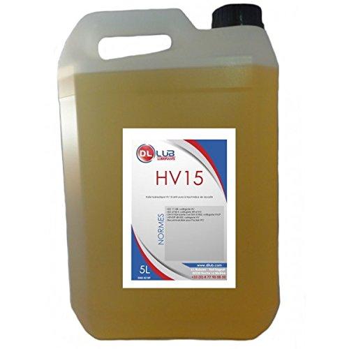 DLLUB – HUILE HYDRAULIQUE HV 15 – 5 litres pas cher