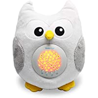 Bubzi Co Baby Toys Owl White Noise Sound Machine, Toddler Sleep Aid Night Light, Unique Baby Girl Gifts & Baby Boy Gifts, Baby Shower Gifts, Portable Baby Soother, New Baby Gift, Gender Neutral