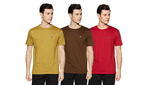 Amazon Brand - Symbol Men's Cotton Round Neck T-Shirt (Pack of 3) (AW17PLPO3-5_M_Multicolor5)