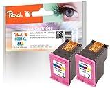Peach PI300-486 Print Head Colour Cartridge for HP CH564EE, No. 301XL (Pack of 2)