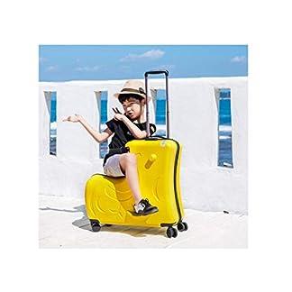 Trolley Case Suitcase Set para Mujer Estuche Rígido el Equipaje Puede Sentarse Y Montar Caja de Madera para Niños con Ruedas Rueda Universal Hombres Y Mujeres Bebé