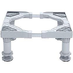 Base pour lave-linge Base pour réfrigérateur Base ajustable avec cadre de plancher pour machine à laver à 4 pieds réglables Réfrigérateur Support réglable pour machine à laver