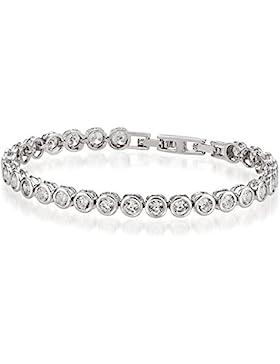 Nina Selles® Tennis-Armband made with CRYSTALLIZED TM - Swarovski Elements, crystal-silber - In edler Schmucketui