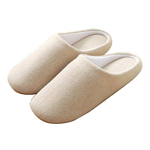 a5c06e8794f House Shoes Spa Slippers Baboosh Cotton Slipper Shoes Loafers Indoor  Slippers Wooden Floor Cloth Men and