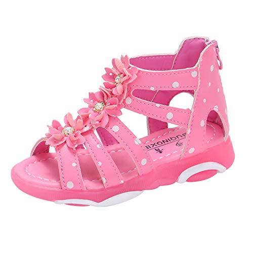 Vovotrade Kinder Mädchen Tupfen Strass Stereo 3D Blumen zurück Reißverschluss Prinzessin Schuhe coole Schuhe
