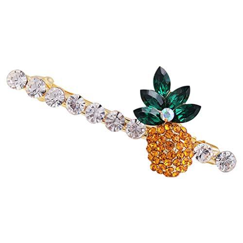 Tcn damen sommer ananas serie headwear glitter strass schmuck stirnband pferdeschwanz halter farbige faux kristall luxus haarspange