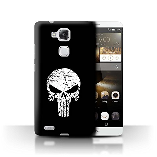 Stuff4® Hülle/Case für Huawei Ascend Mate7 / Punisher Inspiriert Muster/Antiheld Comic-Kunst Kollektion