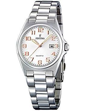 Festina Damen-Armbanduhr XS Klassik Analog Edelstahl F16375/7