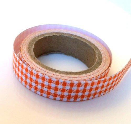 angel-malone-1-x-premium-rouleau-orange-tissu-a-carreaux-vichy-ruban-adhesif-washi-ideal-pour-tous-v