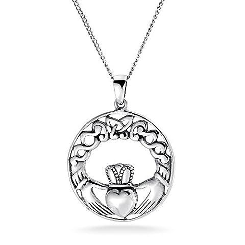 Bling Jewelry 925er Sterlingssilber Keltischer Knoten Claddagh Earrings 18 Zoll