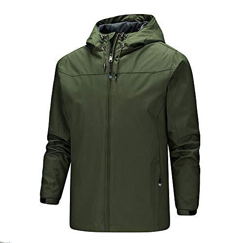 Giacca invernale da uomo, rcool cappotto uomo maniche lunghe all'aperto impermeabile cappotti con cappuccio asciugatura veloce giubbotto giacca a vento abbigliamento sportivo,