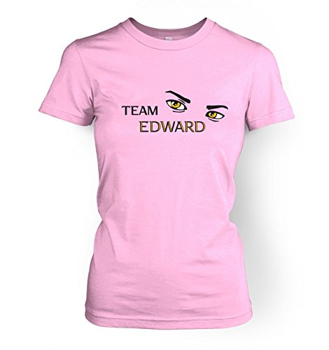 WoHerren Team Edward t-shirt - Twilight (X Large (approx size 14)/Light Rosa) (Edward T-shirt Light)