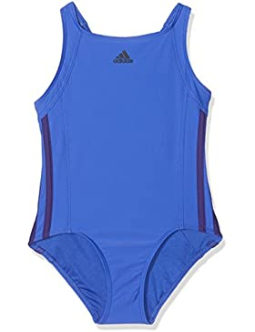 Adidas ragazza Essence Core 3striscia di costume da bagno, Bambina, CV3647, Hi-Res Blue/Real Purple, 110