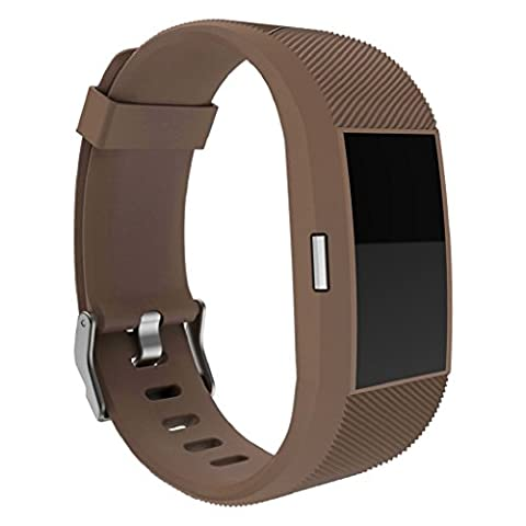 Fitbit Charge 2, OverDose Silicone Adjustable Replacement Accessory Straps for Fitbit Charge 2