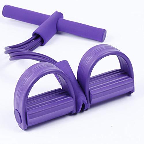 TUWEN 4-Rohr Pedal Fitness Equipment Yoga Dehnbare Band Widerstand Brustgurt Spannung Seil Sit-ups Bauchmuskel-
