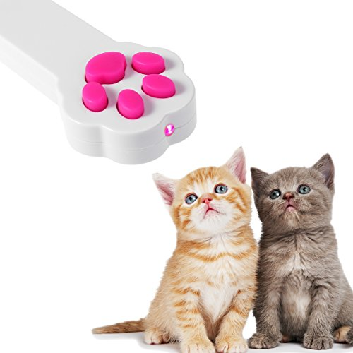 NICERIO Interaktives Spielzeug Cat Toy LED Lichtstrahl Pointer Cat (Schwarz Kitten Cat Paw)