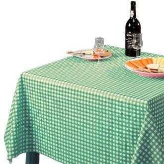 Stalwart E796abwischbar Tischdecke, grün, kariert, 890mm x 890mm, 88,9x 88,9cm