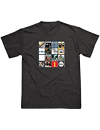 THE BEATLES - Album Covers Mens Black T-Shirt