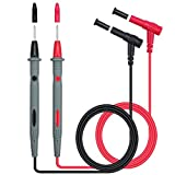 Neoteck 2 PCS 1000V/10A Digital Multimeter Test Lead Probe Multimeter Probe Cable Wire Pen Red/Black Replacement