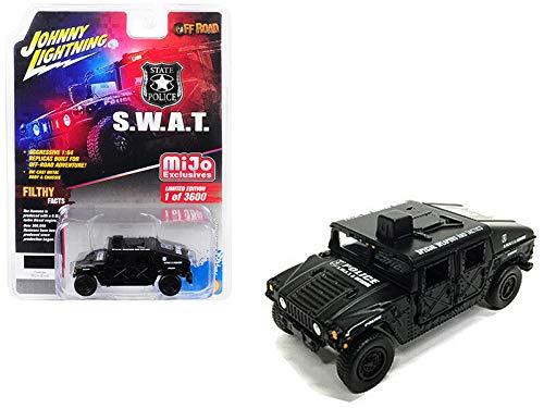 Johnny Lightning Hummer Humvee Police S.W.A.T. Matt Black 1:64 -