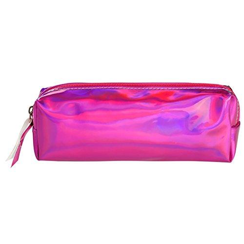 foreverweihuajz Fashion Holographisches Laser glänzend Bleistift Tasche/Schutzhülle, Hologramm Make-up Tasche Student Schule Office Supplies-4Farben erhältlich ist 1 violett -