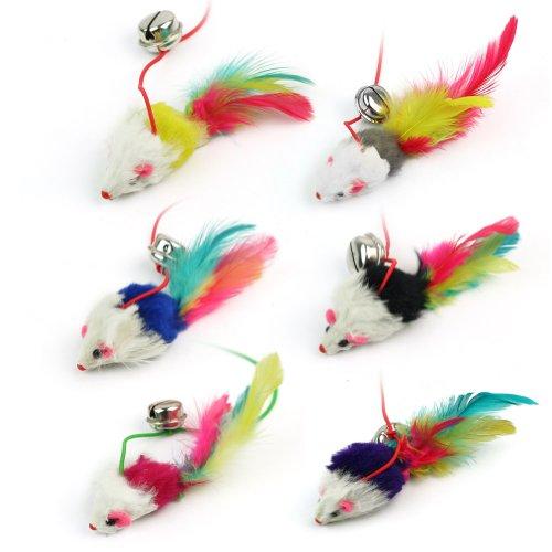 katzeninfo24.de Katzenspielzeug Maus, mit Glöckchen