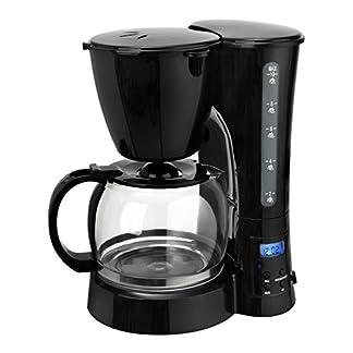 Team-Kalorik-Filter-Kaffeeautomat-mit-Timer-125-l-Fassungsvermgen-Glaskanne-Fr-bis-zu-10-Tassen-800-W-Schwarz-TKG-cm-1017-BT-Metall-Kunststoff-Glas-125-liters