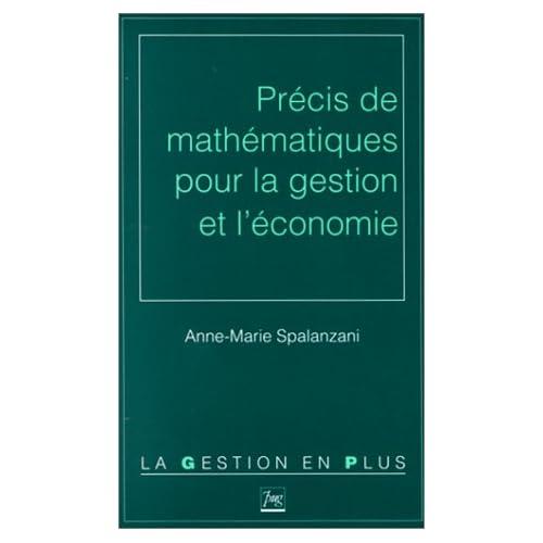 Précis de mathématiques pour la gestion et l'économie