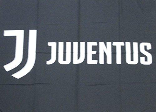 Bandiera grande logo scacchi Juventus 100x140 cm Flag Juve Prodotto Ufficiale