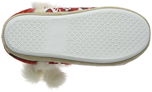 Dunlop Adelphe, Chaussons femme Rouge - Rouge