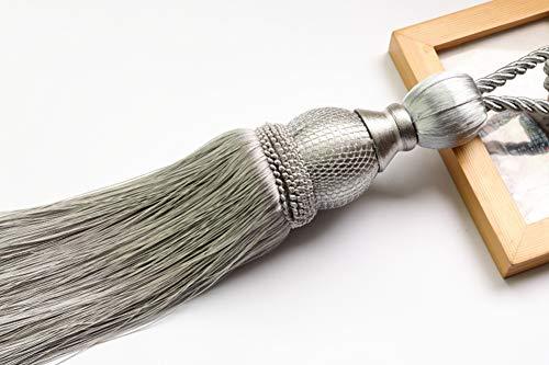 Designer-stil-gürtelschnalle (One Paar Luxuriöse europäischen Stil, Vorhänge Raffhalter Seil Kristall Retro Quaste Vorhänge Schnalle, Rayon, grau, Einheitsgröße)