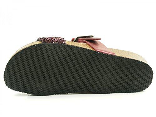 Dr. Brinkmann - 701090, Pantofole Donna Rosso (Bordeaux)