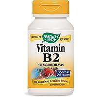Nature's Way, Vitamin B2, 100 mg, 100 Capsules