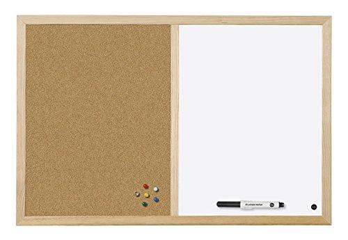 Bi-Office Budget - Pizarra Combinada Doble Uso Blanca