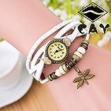 Armbanduhr Damen Ronamick Antike Libellen Frauen Armband Hand Ring Armbanduhr Geburtstag Geschenk Armbanduhr Armband Uhr Uhren (Weiß)