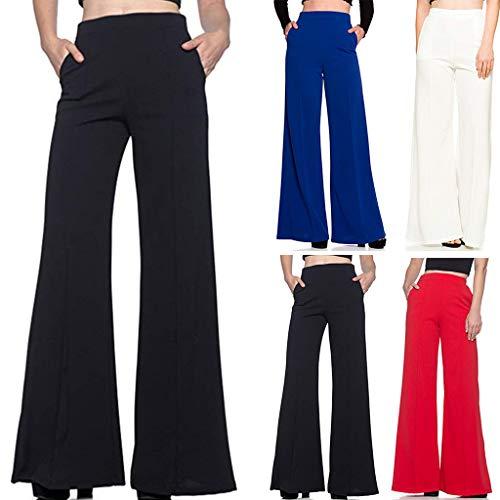 Pantalones de Vestir Blancos,Vaqueros Campana,Vaqueros Negro