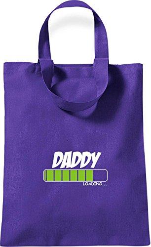 ShirtInStyle kleine Baumwolltasche DADDY Loading Farbe Rot lila