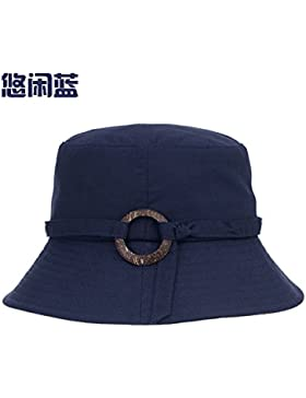 Pajarita pescador hat mujeres primavera y verano al aire libre ropa de algodón sombrero Cuenca señoras ocio pueden...