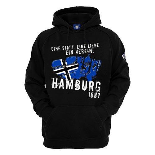 Herren Hoodie Eine Stadt Eine Liebe Ein Verein (Schwarz, xxl) - Elvis Hoodie