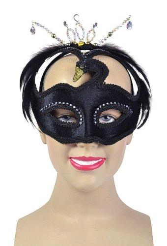 BLACK SWAN MASK FANCY DRESS (Swan Wie Kostüme Black)