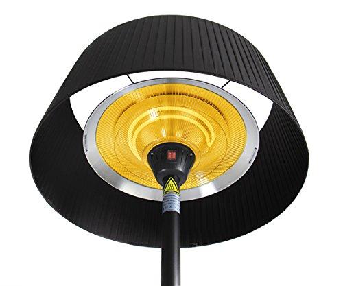 Firefly 2.100 Watt Infrarot-Heizstrahler (Halogen) Terrassenheizung, freistehend, 3 Leistungsstufen, schwarz - 5