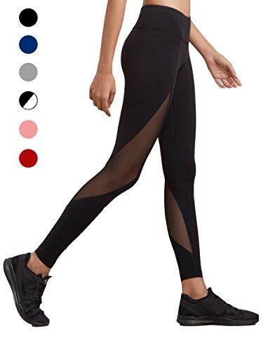 dh Garment Yoga Leggings Damen hohe Taille Strumpfhosen mit Bundtasche(Größe S)