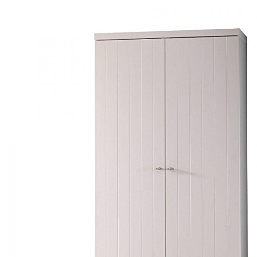 Vipack ROKL1214 Robin Armoire avec 2 Portes MDF Blanc Laqué 110 x 57 x 204,5 cm
