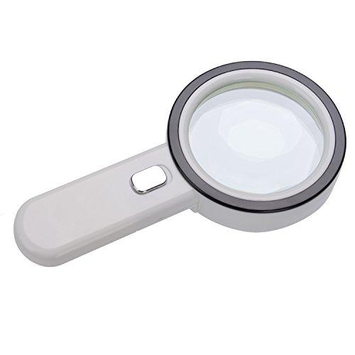 Extra große 12LED mobile Lupe und Licht, XYK 20X Beste Jumbo Größe beleuchtete Lupe für Lesen, Inspektion, erkunden, Hobbys und mehr (weiß). - 2