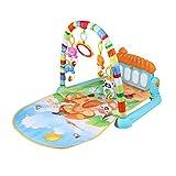 Toyvian Baby Play Gym Activity Mat patada y piano con música y luces No incluida Batería