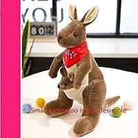 Cute Australian Kangaroo Plush Toy Doll Doll Baby Mother Child Gift Kangaroo No.1: 58Cm High Dark Brown Red Scarf (Small Kangaroo Not Desirable)