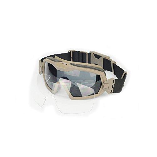 Fan Version Kühler Brille Regulator Schutz Brillen für Sport Bike Radfahren Fahren Tactical Paintball Softair Ski Snowboard 2 Farben (schwarz, DE) (DE)