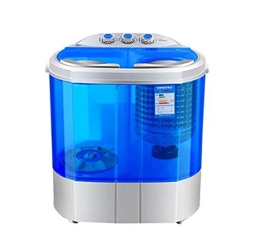 Tragbare Waschmaschine, Dreh-Trockner - Kompakte Doppel-Badewanne 2.2KG / 4.8 Lb Mini Waschmaschine Waschen FüR WäSche-Wohnungen, Schlafsaal, RV Camping, Lila/Blau